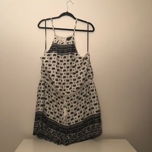 NWT Forever 21 Plus Size printed Romper Size 3X